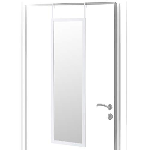 Lola Home Espejo de Puerta Moderno de plástico de 35 x 125 cm (Blanco)
