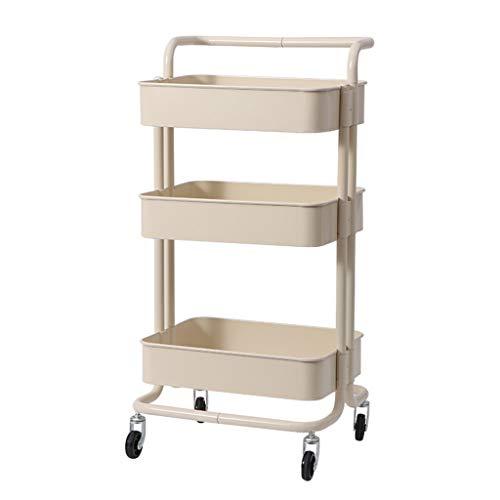 & Opbergrek keukenwagen met meerdere niveaus, plank met rolbodem, plank met grote inhoud plank eenheid – 3-traps afwerkingsplank