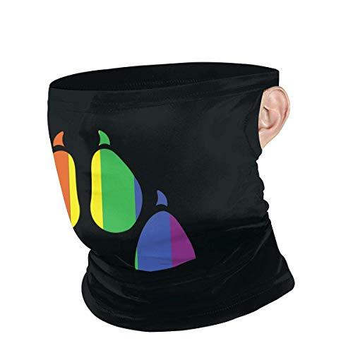 Máscara de esquí con orgullo gay peludo para hombres y mujeres, al aire libre, resistente al viento, máscara de esquí, bufanda turbante.