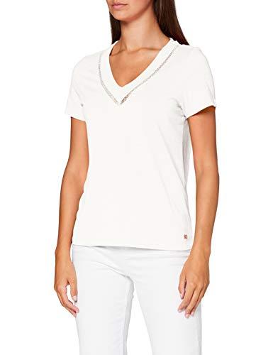 s.Oliver Damen 120.10.005.12.130.2038217 T-Shirt, Cream, 40