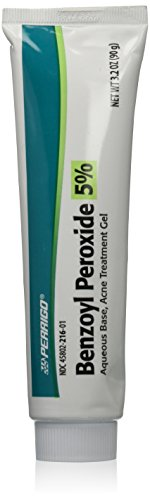 Perrigo Benzoyl Peroxide 5 Percent Large 90 gram Tube of Acne Treatment Gel