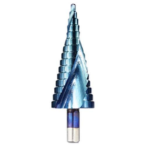 LKK-KK 4-32Mm Hss Blue Coated Step Drill Bit Drilling Power Tools Metal High Speed Steel Wood Hole Cutter Step Cone Drill