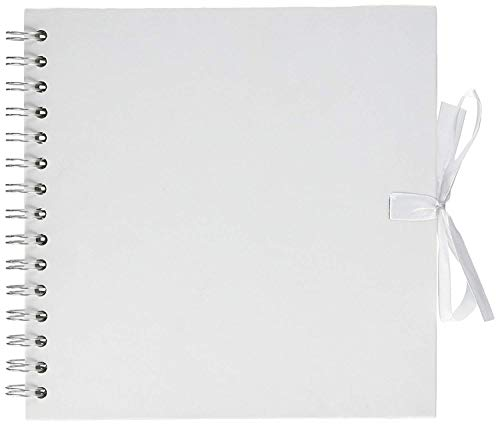 Artemio Scrapbooking-Album, 20 x 20 cm, Spiralbindung, Weiß