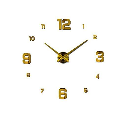 NOBRAND Wandklok modern Home decoreren spiegel grote wandklok decoratieve Wandklokken horloge unieke geschenk Zwart goud blauw zilver
