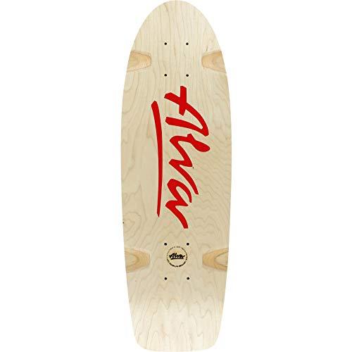 Alva Skateboards Bela Horvath Reissue Skateboard-Brett/Deck, 21,6 x 68,6 cm, Naturfarben/Rot