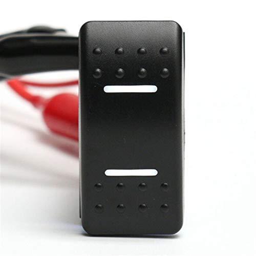 LSXLSD Auto Piezas Interruptor de automóvil 7 Pines 12V 24V Eleva a prueba de agua Barco de coche Camión de autobús marino Todo Coloar Double LED Luz Rocker Switch Accesorios para automóviles