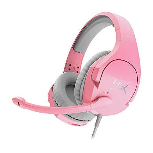 HyperX Cloud Stinger – Gaming Headset, Memory Foam, Soft Leatherette, Durable Steel Sliders, Swivel-to-Mute Noise-Cancelling Microphone, Works on PC, PS4, PS5, Xbox, Nintendo Switch and Mobile – Pink
