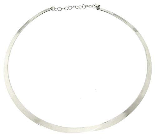 KIRALOVE Gargantilla para Mujer - Collar - rígido - Collar - Collar - Elegante - día de San valentín - niñas - Cuello Redondo - Joyas - Color Plata