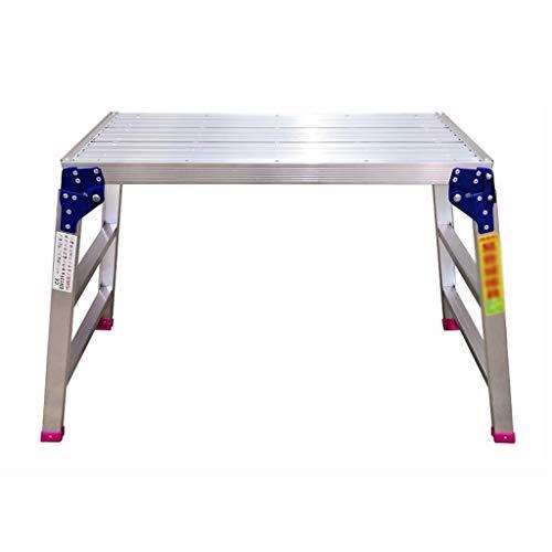 Opvouwbaar metalen platform, drietraps stille ladder, aluminiumlegering, verdikte ladderkruk decoratie werkbank/afmeting: 58 * 23 * 103 cm 51 * 151 * 90cm