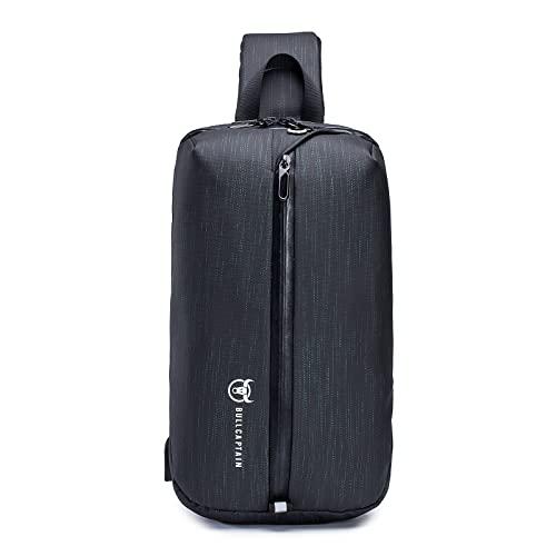 Nefli Bolsa de Pecho para Hombre Bandolera Multiusos Bandolera Informal Oxford Adaptado para 9.7' iPad Sling Crossbody Bag para Viajes Senderismo Ciclismo Líneas Verdes
