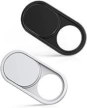imluckies Metal Webcam Cover Slide, 0.023in Camera Cover for Laptop Computer, MacBook Pro/Air iMac iPad Tablet iPhone 8/7/6 Plus, Echo Show/Spot Web Camera Blocker [1 Black+1 White]