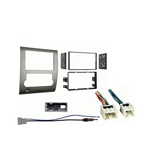 Compatible with Nissan Titan 2008 2009 2010 2011 2012 Double DIN Stereo Harness Radio Install Dash Kit Package