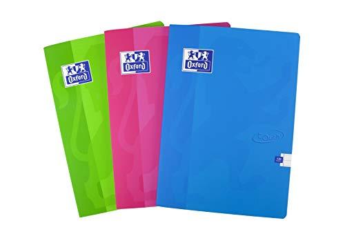 Oxford Touch - Cuaderno de tapa blanda, 120 páginas, tapa blanda, varios colores, 5 unidades A4