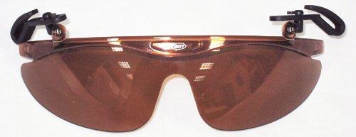 Brett Bros Baseball Cap Flip Narrow Sunglasses, Light Brown