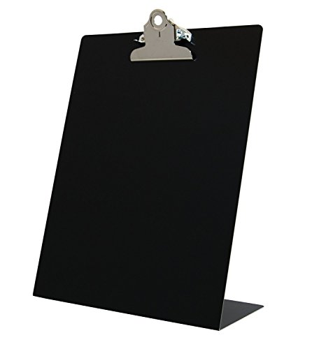 Saunders Black Free Standing Clipboard - Fits 8.5 x 11 inch Letter Size Documents - Ideal for Home, Office, and Business Use (22524)