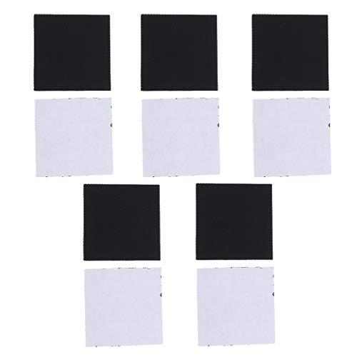 F Fityle 5 Paar Anti-Rutsch Sticker Aufkleber selbstklebend High Heel Sohle Protektoren für Schuhpflege - Schwarz, L