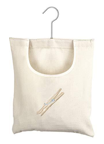 Whitmor Canvas Clothespin Bag Hanging Storage Organizer