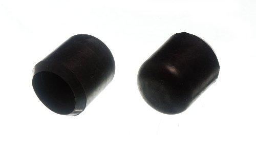24 van stoel meubilair Ferrule vloer beschermer zwart 1 Inch 25Mm Id