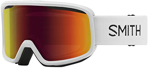 Smith Frontier Snow Goggle (White, Red Sol-X Mirror)