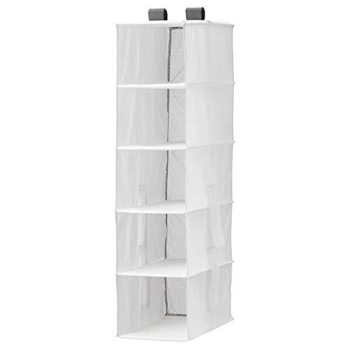 Ikea 504.213.38 RASSLA Aufbewahrung mit 5 Fächern, weiß, 25x40x98 cm, Nicht Angegeben