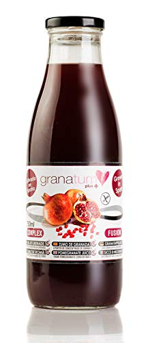 Zumo de Granada a base de concentrado - 12 Botellas de 750ml   Zumo 100% Natural de Alta Absorción   Procedente de concentrado   Vegano   Origen España