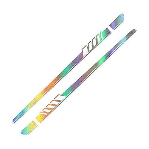 Xingyue Aile 2pcs Ajuste del coche pegatinas de coches Accesorios Para Elantra Tucson Accent i40 i30 i10 i20 Veloster IX35 IX20 Solaris Genesi GDI ( Color Name : Colorful Laser , Style : For Accent )