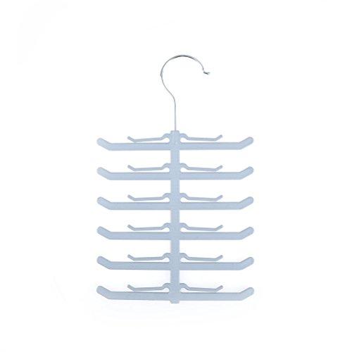 YJAYKL Ahorro de Espacio Espina de pez En Forma de Percha Corbata Corbatas de Lazo Cinturón Mantón Bufanda Rack Venta al por Mayor Percha para Bufandas Toallas