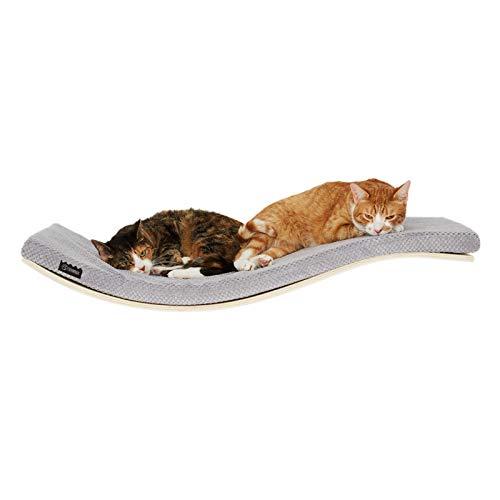 COSY AND DOZY Katze Wandliege Katzenliege | Katzenbett | Katzen Wand Klettern Katzen | 90 cm x 41 cm | Ahorn Holz