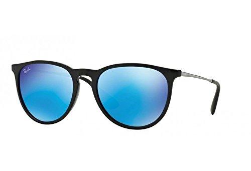 New ORIGINAL Ray Ban Erika RB4171 601/55 Black Frame/Blue Flesh Lens