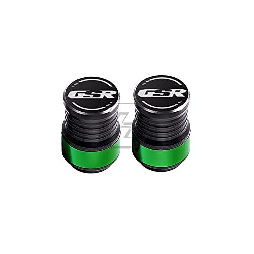 CONGCASE Accesorios de la Motocicleta Tapas de válvula de neumático de Rueda Funda para Suzuki GSR 150 250 400 600 750 (Color : Green)