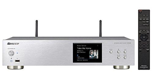 Pioneer N-30AE(S) Netzwerk-Player (integriertes Dualband-WiFi, Airplay, Streaming mit Gapless-, HiRes- und DSD-Fähigkeit, TuneIn-Internetradio und brillantem 3,5 Zoll-TFT-Display) Silber