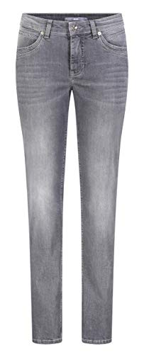 MAC Jeans Damen Angela New Straight Jeans, Grau (Dark Grey Authentic Used D918), W31/L32 (Herstellergröße:40/32)