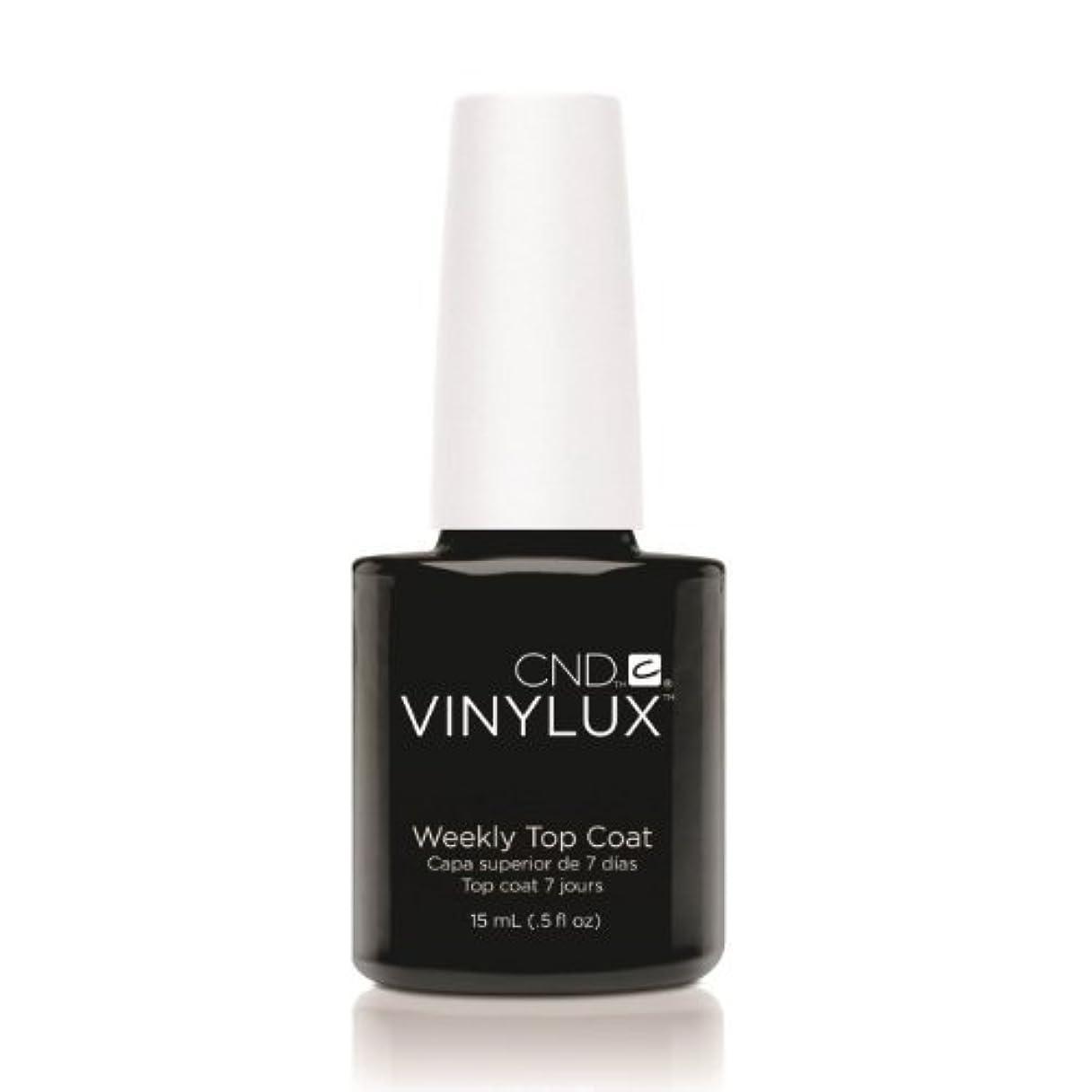 ご近所モナリザのど(3 Pack) CND VINYLUX Weekly Top Coat - Clear (並行輸入品)