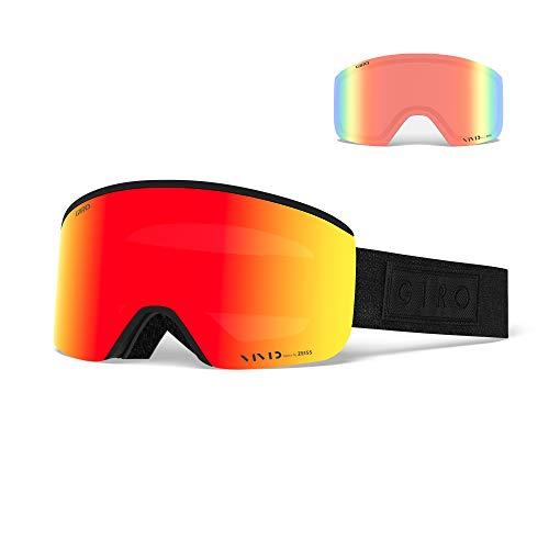 Giro Snow Herren AXIS Skibrille, Black bar Vivid Ember/Vivid Infrared, Einheitsgröße