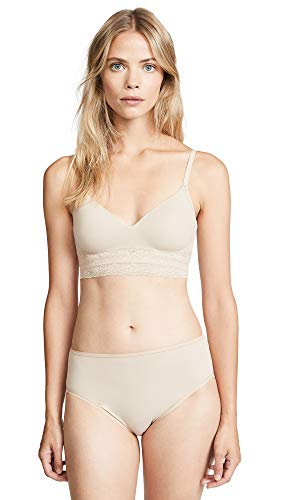 Natori Women's Bliss Perfection Contour Soft Cup Bra, Cafe, 34DDD