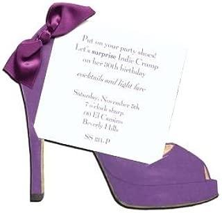 High Heel (Purple) Shoe Die-cut Card, Pack of 10