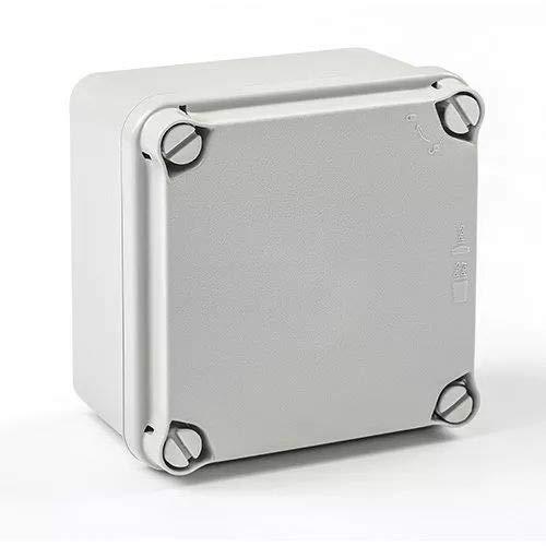 IDE EL111 IP65-IP67 Caja Estanca de Derivación con Tapa Opaca y Laterales Lisos, Gris, 108mm x 108mm x 64mm