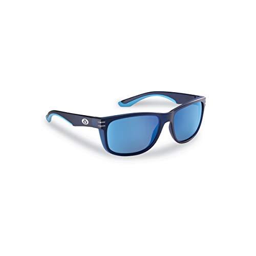 Flying Fisherman 7873NSB Double Header Polarized Sunglasses, Navy Frame, Smoke-Blue Mirror Lens