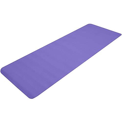 XYQS Esterilla de yoga, unisex, de TPE, de 6 mm de grosor, antideslizante, con correa de transporte, para entrenamiento, yoga, pilates (morado) (color: morado)