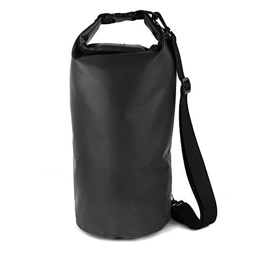 Saco de PVC Bolso de la Motocicleta al Aire seco Bolsa a Prueba de Agua 10L 20L 30L, Hombro, Buceo, natación, Kits de Viaje de conducción de excursión el Bolso Motocicleta (Color Name : Black