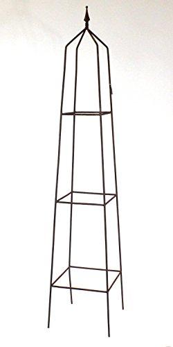 Rost Obelisk, quadratisch, Rankgerüst 180 cm hoch