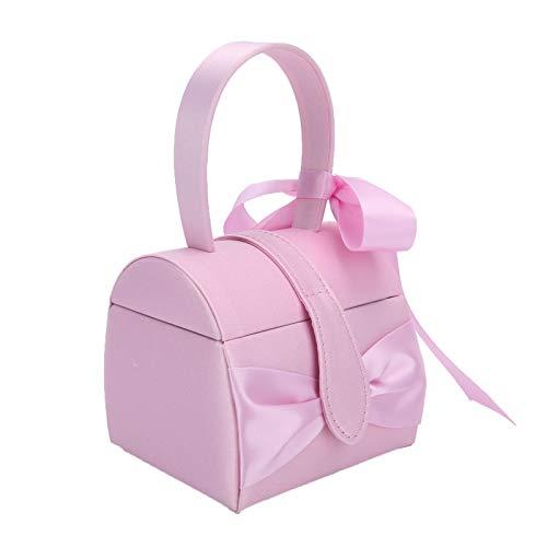 Cryfokt Organizador de Joyas, Joyero, Niñas ecológicas para Anillos Inicio Pendientes(Pink)