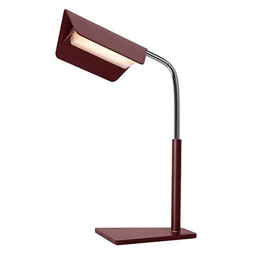 HJKM Duitse Oni Boek pagina tafellamp alle metalen lamplichten, anti-domping design, geen stroboscoop, anti-glare, geen blauw licht gevaar rood (rode wijn)
