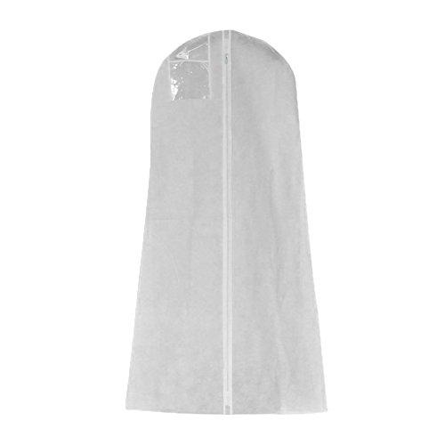 Starter - Funda protectora para vestido de novia, extra grande, funda protectora para vestido de boda, a prueba de polvo, bolsa de almacenamiento (medio)
