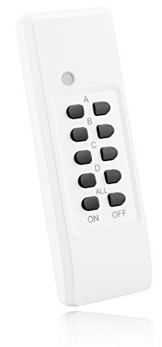 mumbi Fernbedienung 4-Kanal Funksteckdosen der Serie FS306 / FS300 / FS600 - Plug & Play 1 Fernbedienung