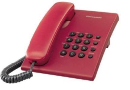 Panasonic KX-TS500MX Corded Landline Phone(Red)