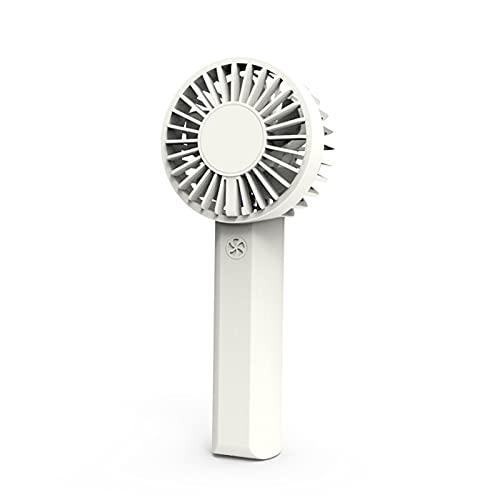 Varadyle Ventilador PortáTil de Mano Creativo Carga Aspa del Ventilador de Motor Dual Ventilador USB para Estudiantes Al Aire Libre Blanco