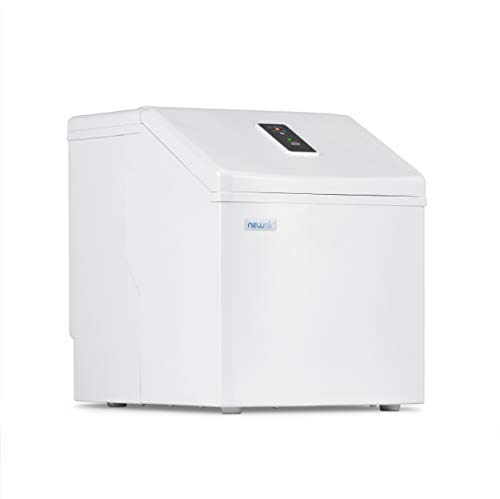 NewAir Portable Ice Maker Clear Icemaker Machine, 40 lb daily, Perfect for Countertops, ClearIce40W White