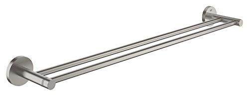 Grohe Essentials Doppel-Badetuchhalter, supersteel, 1 Stück, 40802DC1