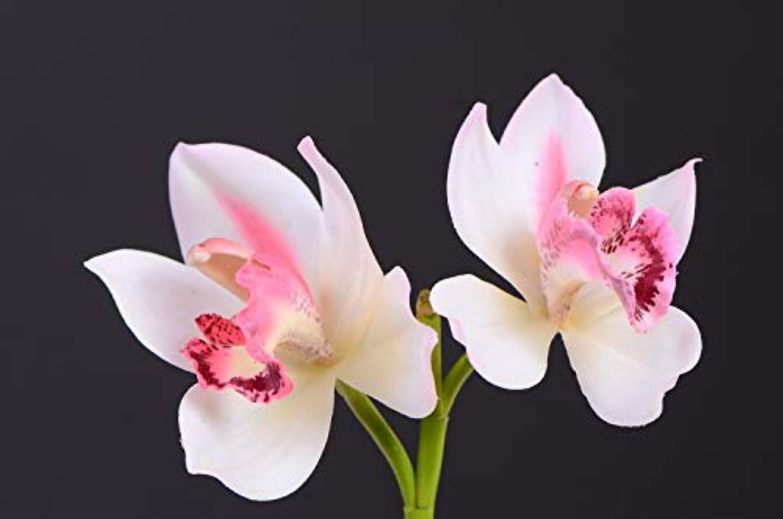 Bureze 6 Piezas de orquídeas Artificiales de Alto Grado para decoración de Fiestas y Festivales Familiares, de la Marca